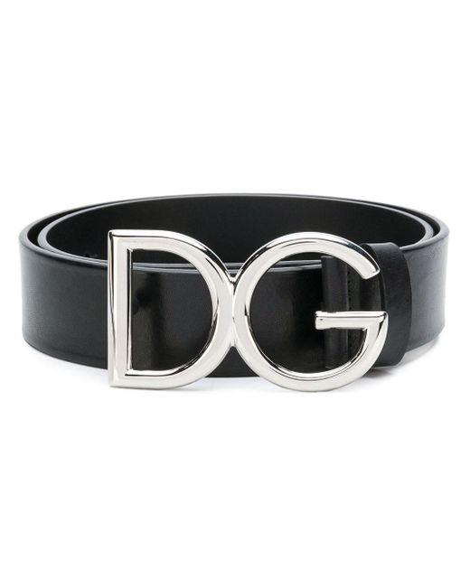 メンズ Dolce & Gabbana ロゴバックル ベルト Black