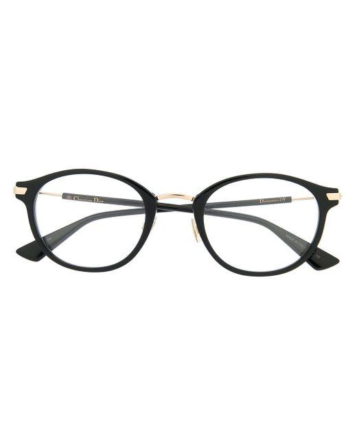 Dior ラウンド 眼鏡フレーム Black