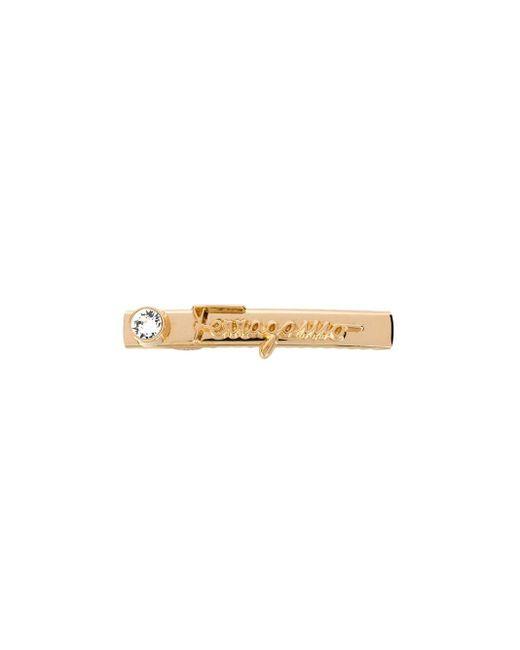 Заколка Для Волос С Логотипом Ferragamo, цвет: Metallic