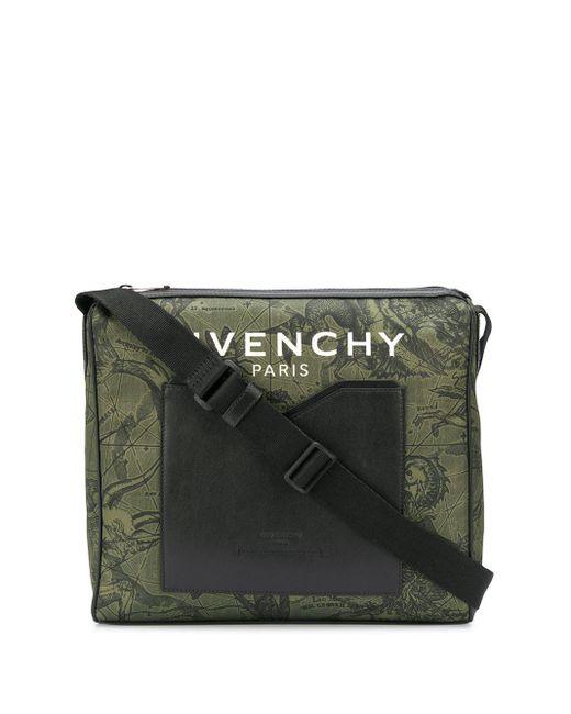 Сумка На Плечо С Принтом Givenchy для него, цвет: Green