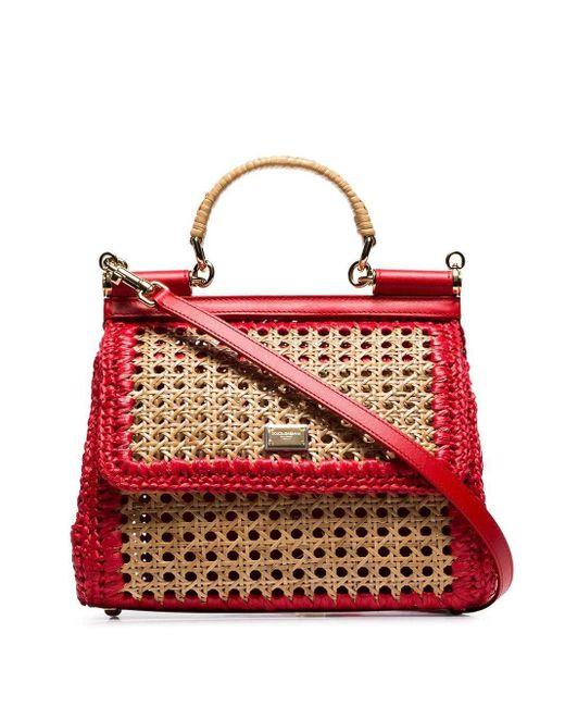 Dolce & Gabbana Sicily ショルダーバッグ Red