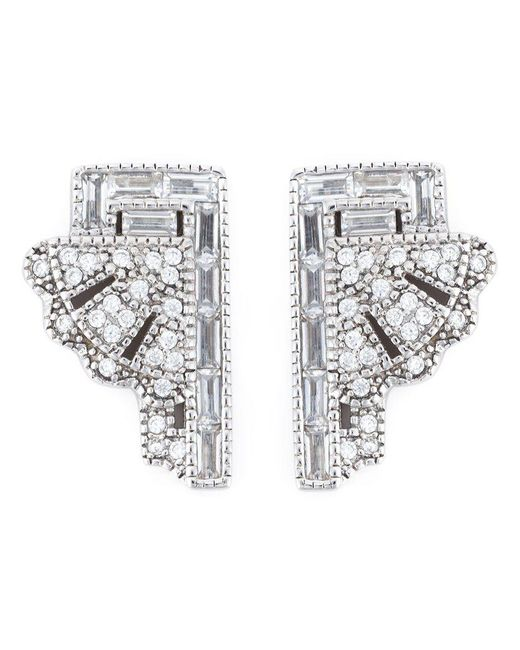 V Jewellery | Metallic 'deco Fan' Earrings | Lyst