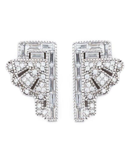 V Jewellery - Metallic 'deco Fan' Earrings - Lyst