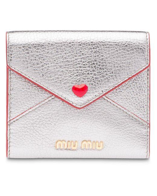 Miu Miu フラップ財布 Multicolor