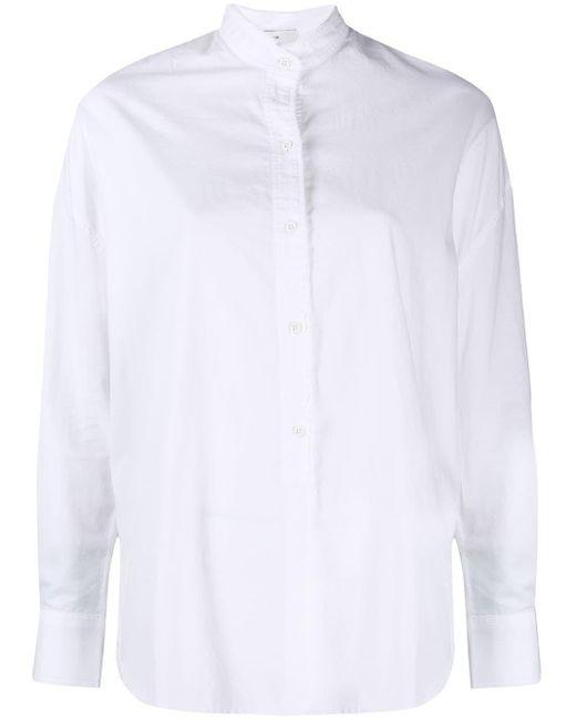 Vince White Silk Blend Shirt