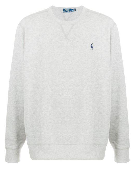 T-shirt à logo brodé Polo Ralph Lauren pour homme en coloris Gray