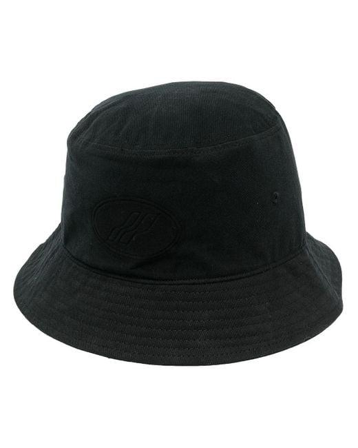 メンズ we11done ロゴ バケットハット Black