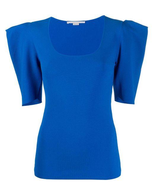 Stella McCartney パワーショルダー Tシャツ Blue