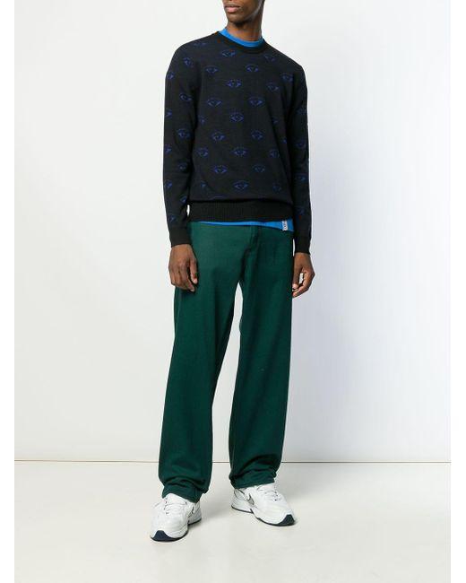 メンズ KENZO パターン セーター Black