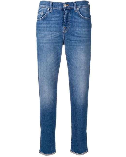 7 For All Mankind Vintage Robertson ストレートジーンズ Blue