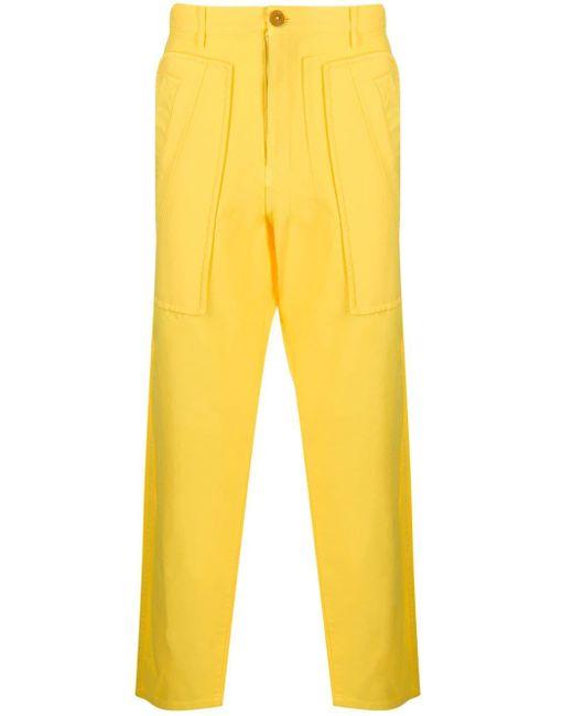 メンズ Comme des Garçons ストレート カーゴパンツ Yellow