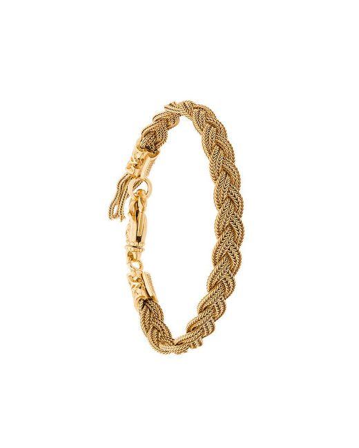 Emanuele Bicocchi - Metallic Woven Bracelet for Men - Lyst