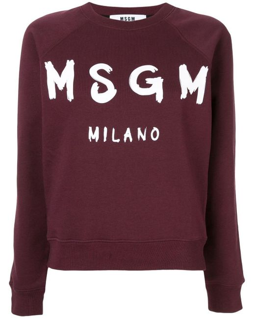 MSGM ロゴ スウェットシャツ Purple