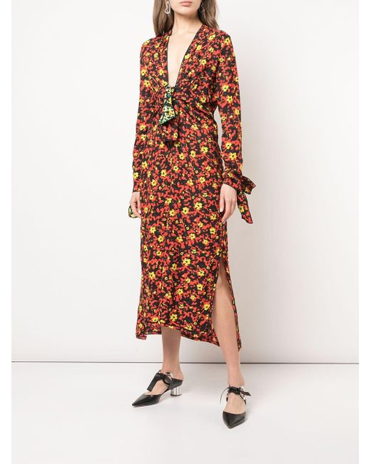 Proenza Schouler Georgette ドレス Multicolor