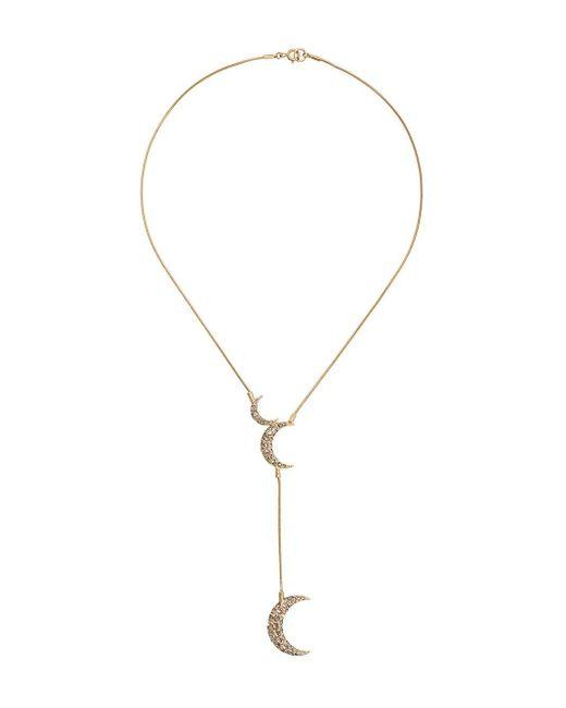 Isabel Marant ラインストーンロゴ ネックレス Metallic