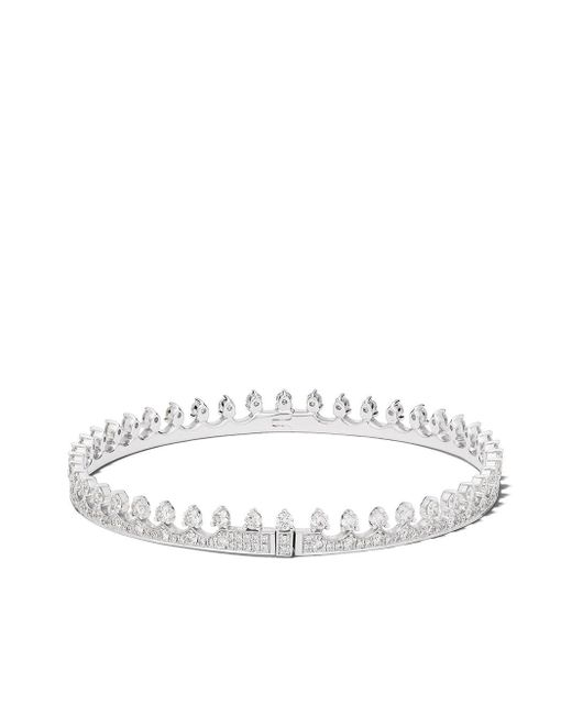 Annoushka Crown ダイヤモンドバングル 18kホワイトゴールド Metallic