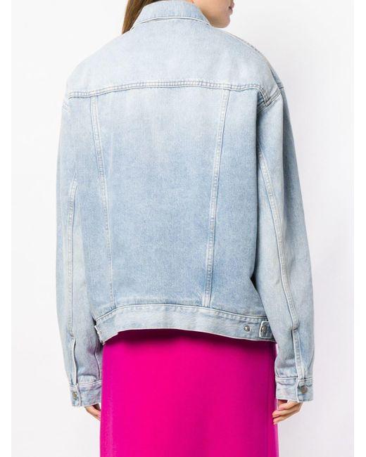 Balenciaga オーバーサイズ デニムジャケット Blue