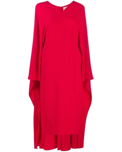 Valentino Vネック ドレス Red