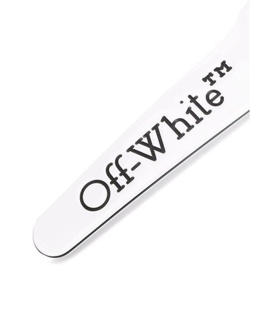 Off-White c/o Virgil Abloh ロゴ ヘアクリップ White