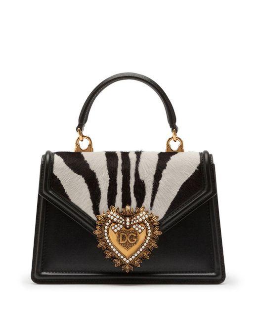 Dolce & Gabbana Devotion ハンドバッグ M Black