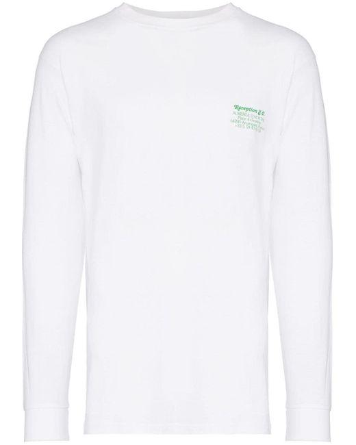 メンズ Reception Achtal ロングtシャツ White