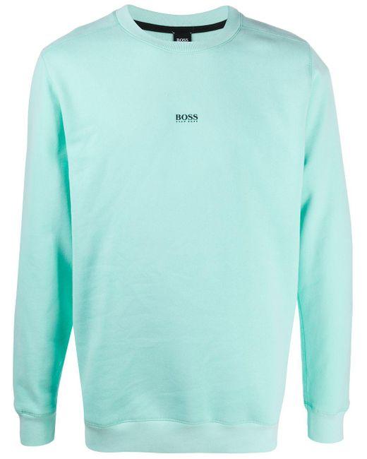 メンズ BOSS by Hugo Boss ロゴ スウェットシャツ Green