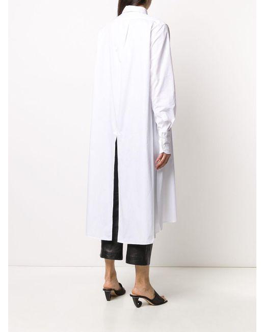 Ann Demeulemeester ロング シャツドレス White