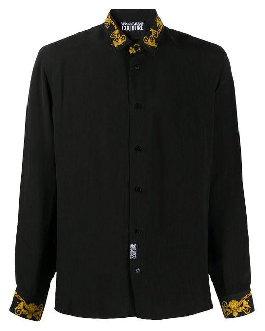 メンズ Versace Jeans バロックプリント シャツ Black