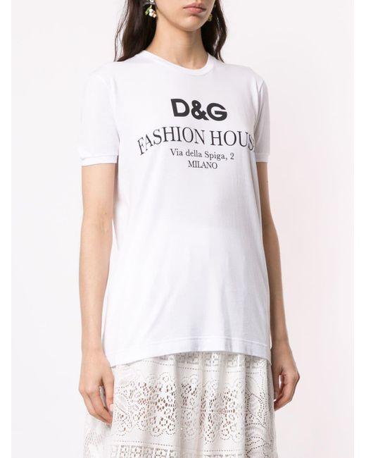 Dolce & Gabbana ロゴ Tシャツ White