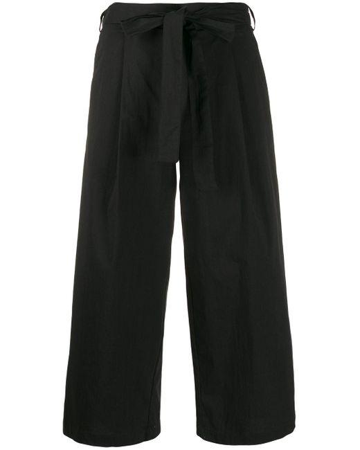 DKNY クロップド ワイドパンツ Black