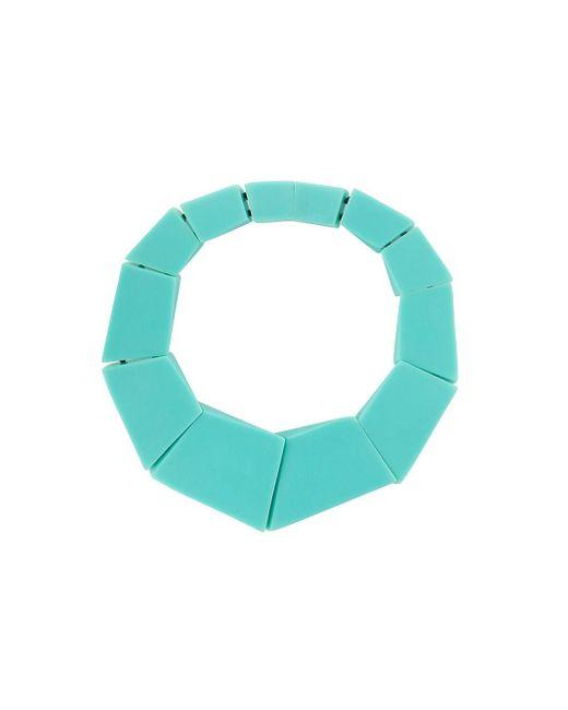 Collier Venezia à design géométrique Monies en coloris Green
