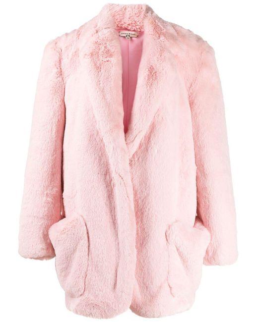 Natasha Zinko オーバーサイズ エコファーコート Pink