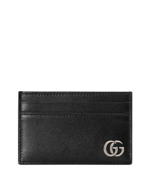 Gucci Black Interlocking GG Plaque Cardholder for men