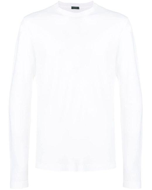メンズ Zanone ロングtシャツ White