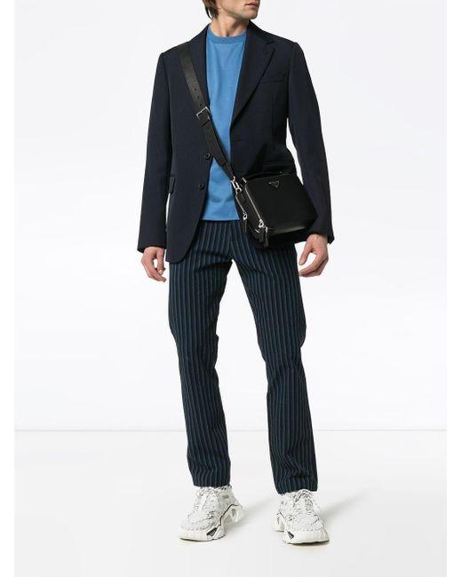 T-shirt à patch logo Prada pour homme en coloris Blue