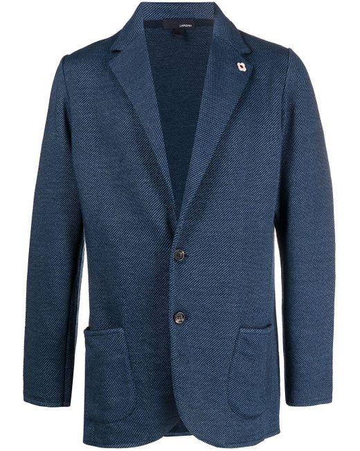 Однобортный Пиджак Lardini для него, цвет: Blue