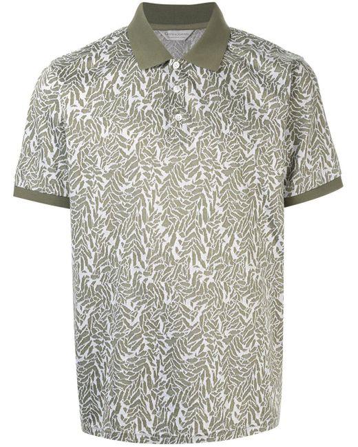 メンズ Gieves & Hawkes パターン ポロシャツ Green