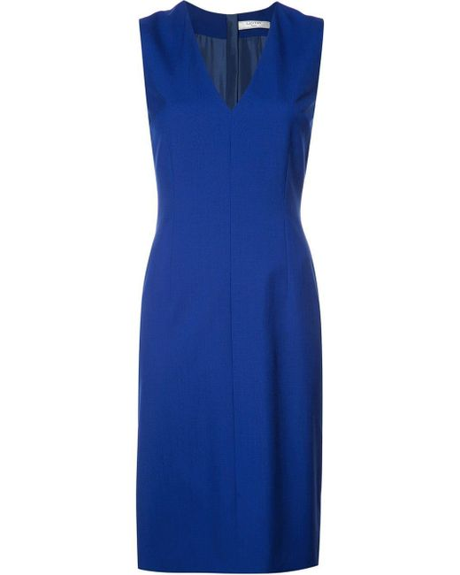 Lanvin Vネック ドレス Blue
