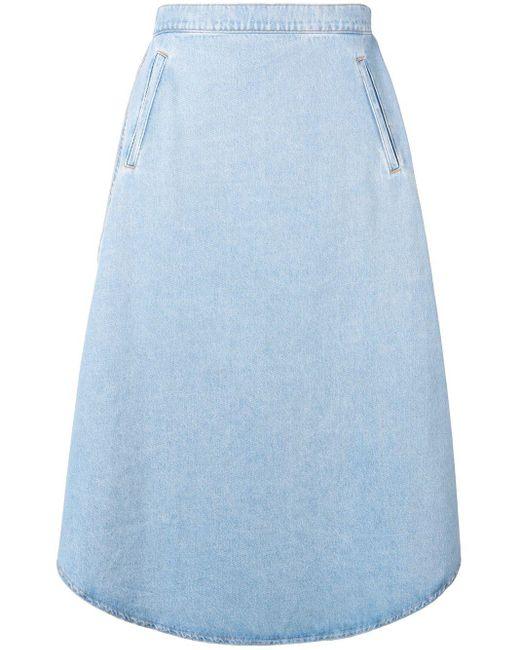 MM6 by Maison Martin Margiela オーバーサイズ デニムスカート Blue