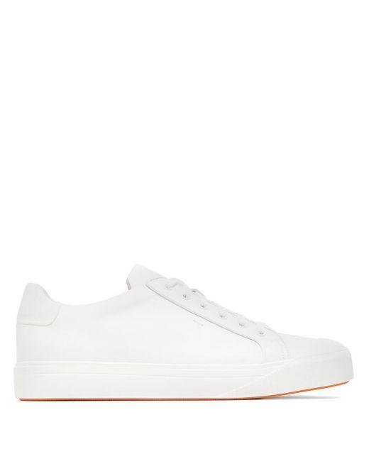 Кроссовки На Шнуровке Santoni для него, цвет: White