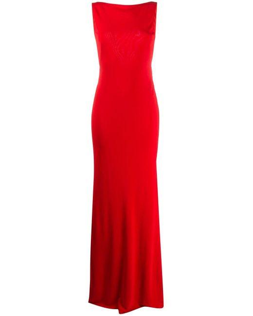 Alexander McQueen スラッシュネック ドレス Red