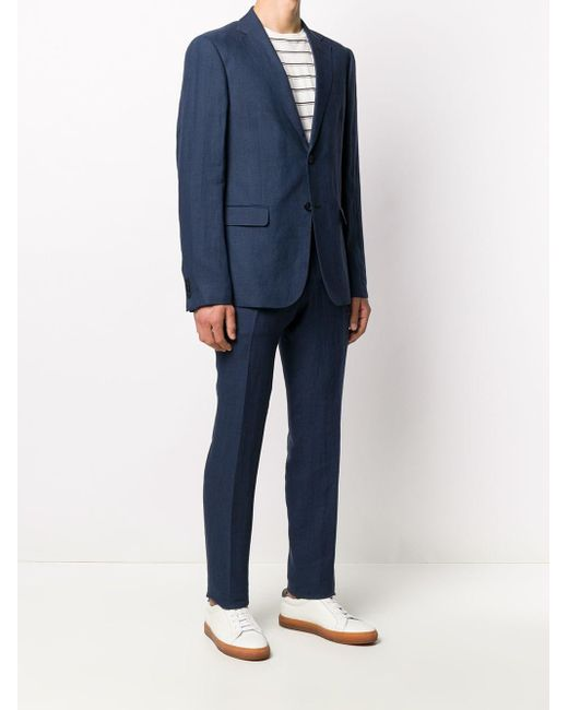 メンズ Z Zegna シングルスーツ Blue