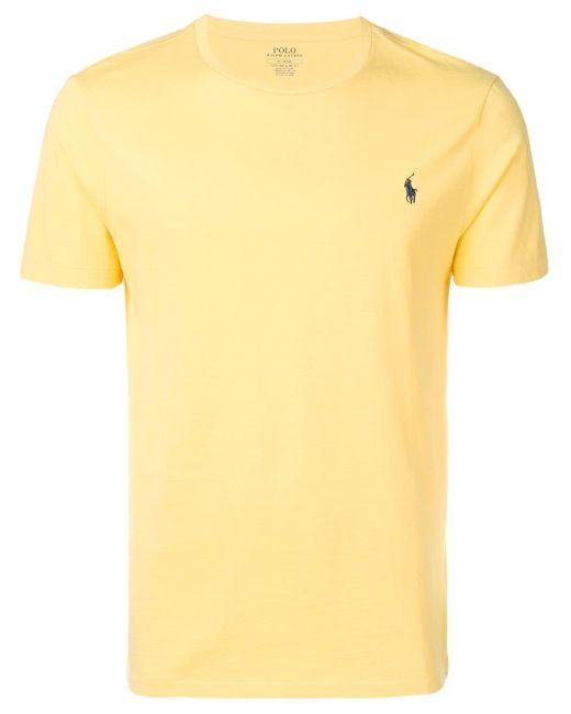 メンズ Polo Ralph Lauren ロゴエンブロイダリー Tシャツ Yellow