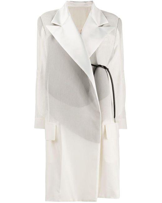 Sacai オーバーサイズ コート White