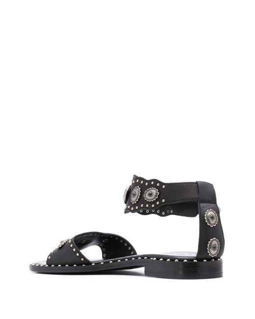 Ash Women's Black Poker Studded Sandals