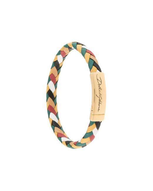 Плетеный Браслет С Логотипом Dolce & Gabbana для него, цвет: Metallic