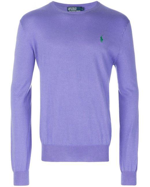 メンズ Polo Ralph Lauren クルーネック セーター Purple