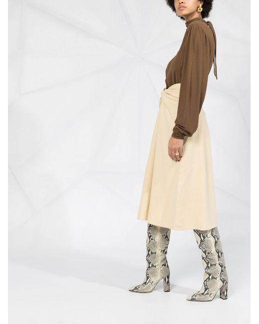 Lemaire ツイストディテール スカート Natural
