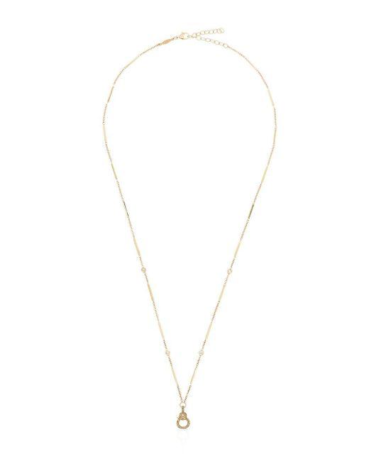 Jacquie Aiche ダイヤモンド ネックレス 14kイエローゴールド Metallic