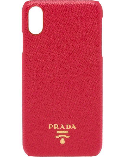 Prada ロゴ Iphone Xs Max ケース Red